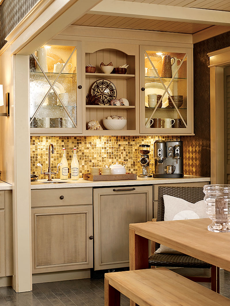 An everyday escape the traditional home nkba kitchen for Kitchen coffee bar cabinets