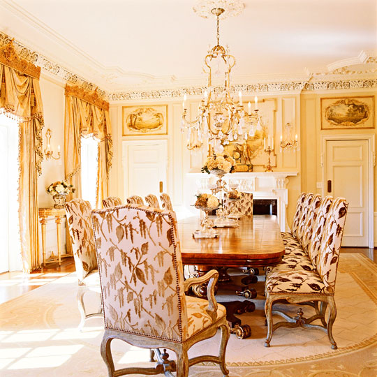 Formal Dining Room Window Treatments: Dramatic Window Treatments