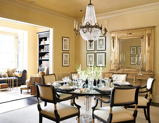 + ENLARGE. Dining Room In Gold