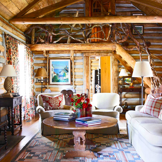 Traditional Interior Design By Ownby: Storybook Log Cabin