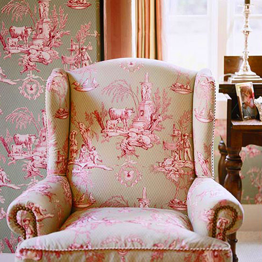 Decorating Ideas: Toile Fabric | Traditional Home