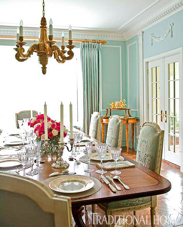 Our best before and after dining rooms traditional home for Traditional dining room design