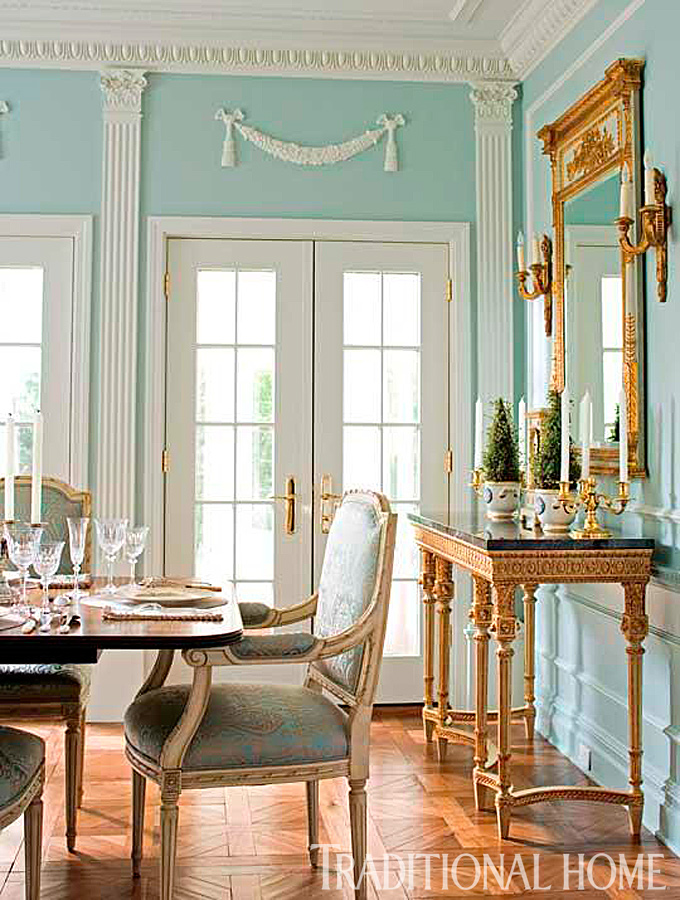 Our best before and after dining rooms traditional home for Traditional dining room wall decor