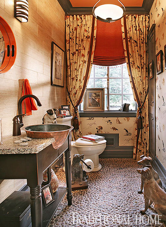 Create a smashing powder room traditional home for Space themed bathroom
