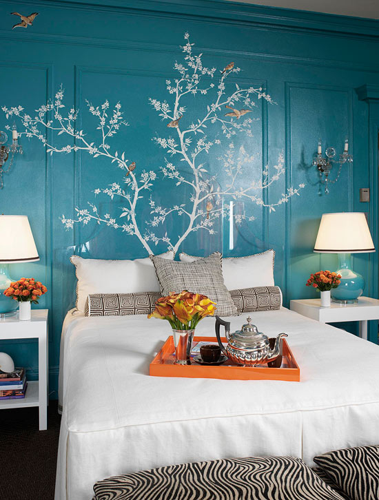 Blue And Orange Bedroom Ideas 2 Simple Design