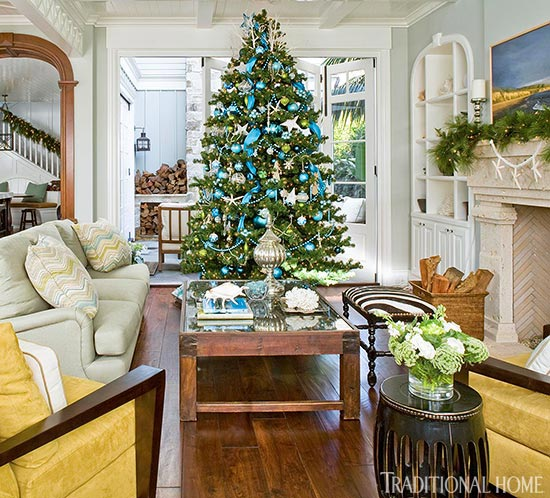 enlarge - Blue White Christmas Decorating Ideas