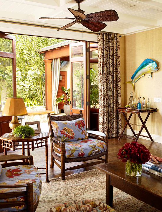 Decorated Homes california home decorated to feel like a tropical retreat