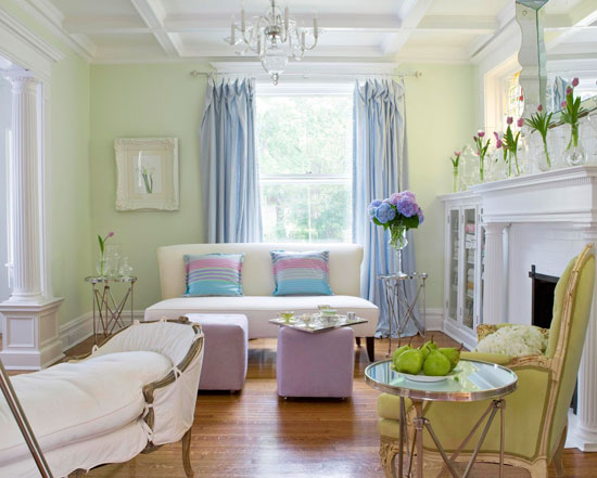 pastel living room - Traditional Home Decoration