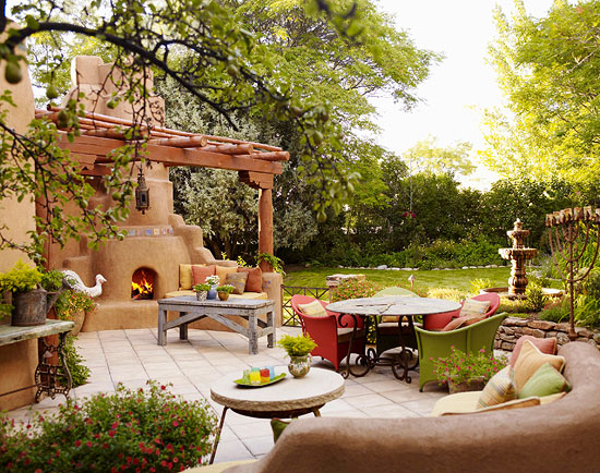 Home Entertaining gracious outdoor dining and entertaining | traditional home