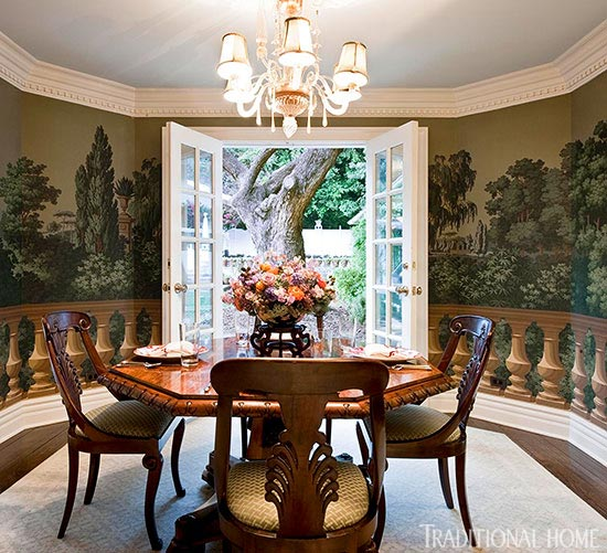 Wonderful Wall Coverings Traditional Home