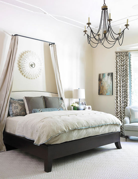 Gorgeous gray and white bedrooms traditional home - Traditional white bedroom furniture ...