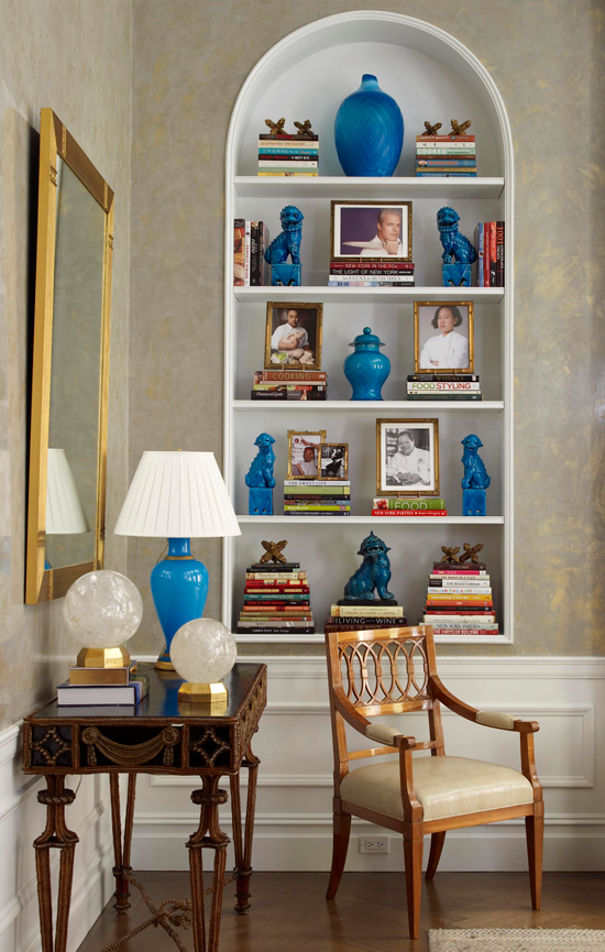 Enlarge Shelves Punctuated With Color