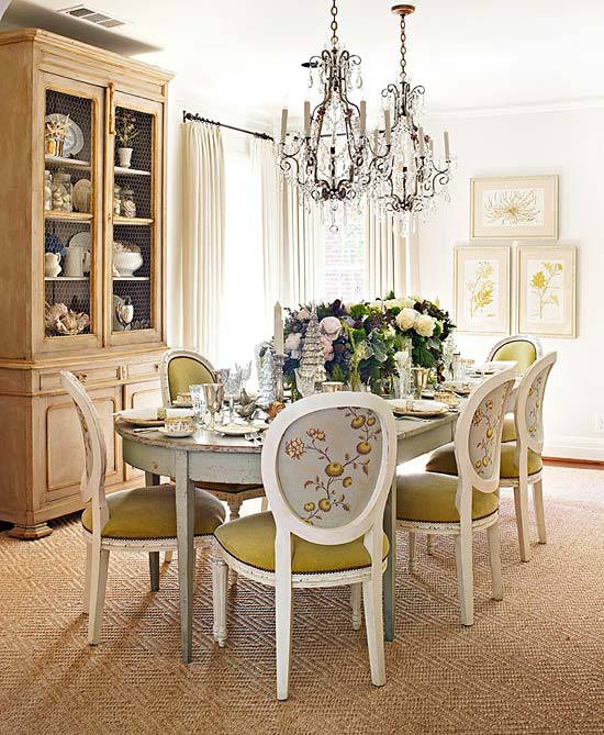 Dining Room Chandeliers Traditional: Decorating Ideas: Color Inspiration