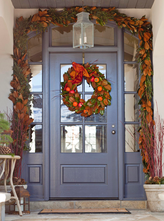+ ENLARGE - Outdoor Holiday Decorating Traditional Home