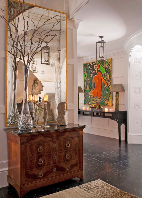 Traditional Foyer Decor : Festive holiday staircases and entryways traditional home