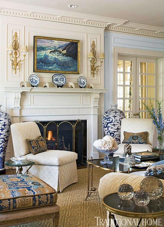 traditional home living rooms.  ENLARGE Get the Look Classic Mantels Traditional Home