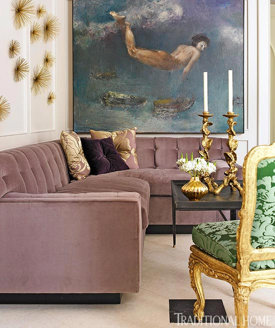 Very Dramatic Showhouse Rooms | Traditional Home OV57