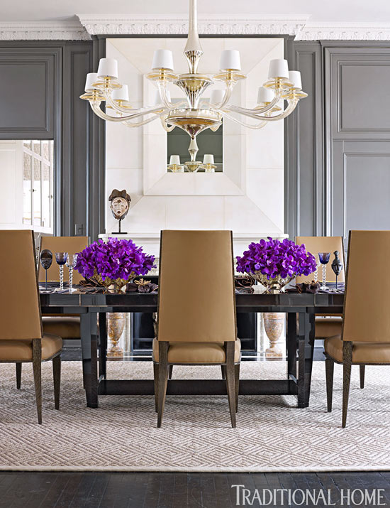 + ENLARGE. Werner Straube. Contrasting Gray Dining Room