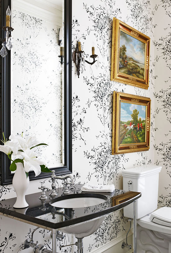 Beautiful Black And White Bathrooms Traditional Home
