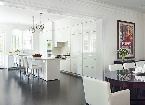 Gray And White Kitchen Designs white kitchens design ideas photos architectural digest Clean Contemporary White Kitchen