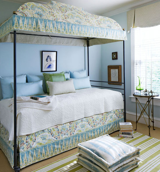 Soothing Blue And Green Bedroom