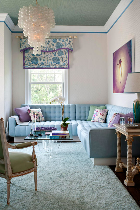 Blue And Purple Living Room Colors living rooms with tantalizing texture | traditional home