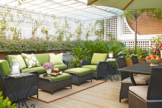 Lovely Rooftop Garden In Chicago Traditional Home