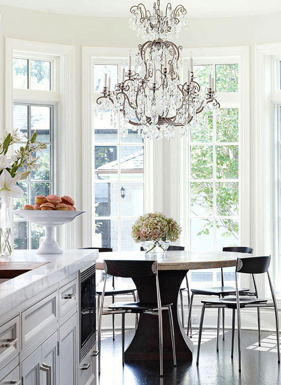 Light And Lovely Marble Kitchen Traditional Home