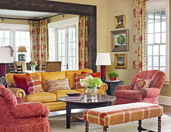 Marvelous Cozy And Colorful Family Room