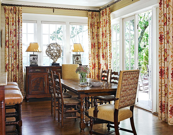 Lovely mountain summer home with terrific color for Casual formal dining room