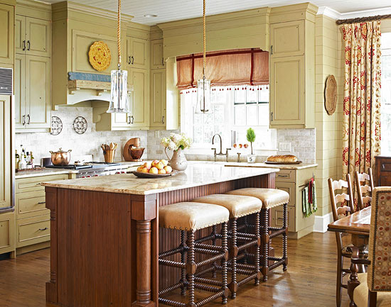 + ENLARGE & Kitchen Cabinets with Furniture-Style Flair | Traditional Home