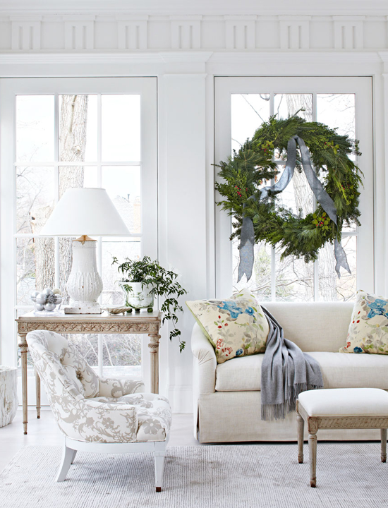 White Christmas Lovely Virginia Home Traditional Home