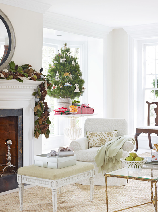 white christmas lovely virginia home traditional homeNavidad Interior Design #9