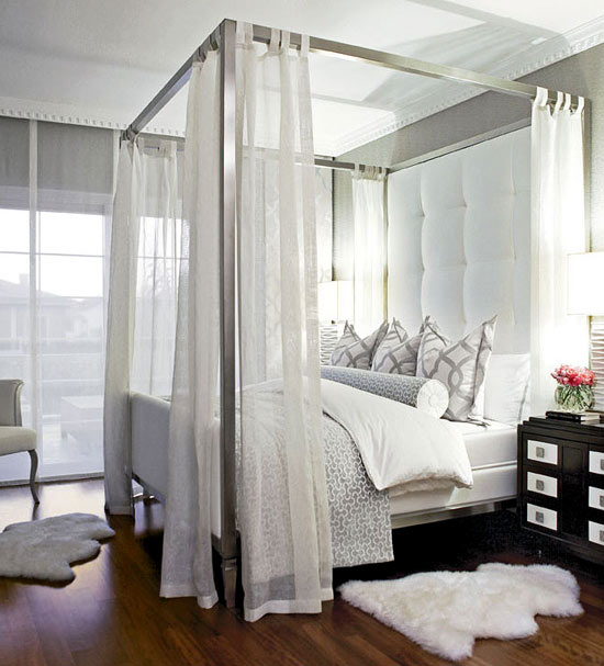 Heavenly White Master Bedroom Canopy Sheers Frame The Beds