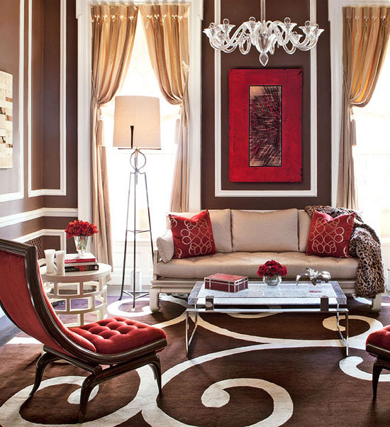 Living Room Ideas Red Accents showhouse rooms with red accents | traditional home