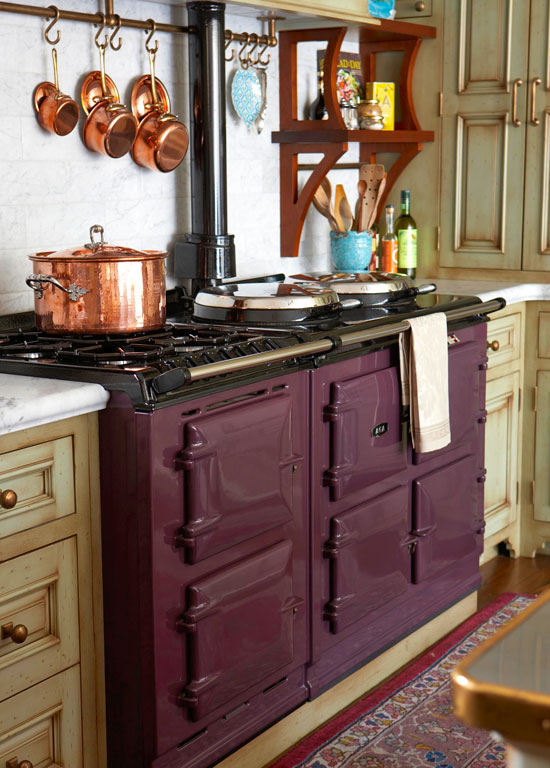 cozy kitchen with warm colors | traditional home
