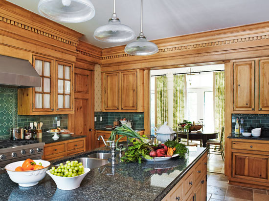 Kitchen Cabinets With FurnitureStyle Flair Traditional Home Interesting How To Update Oak Kitchen Cabinets