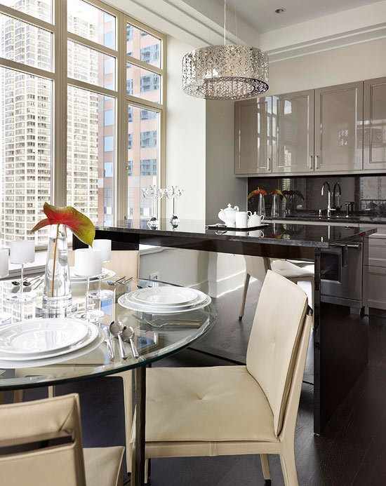 Apartment living traditional home for Show me kitchen designs