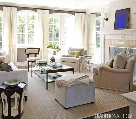 Simplified living in an elegant california home - Neutral colors to paint a living room ...