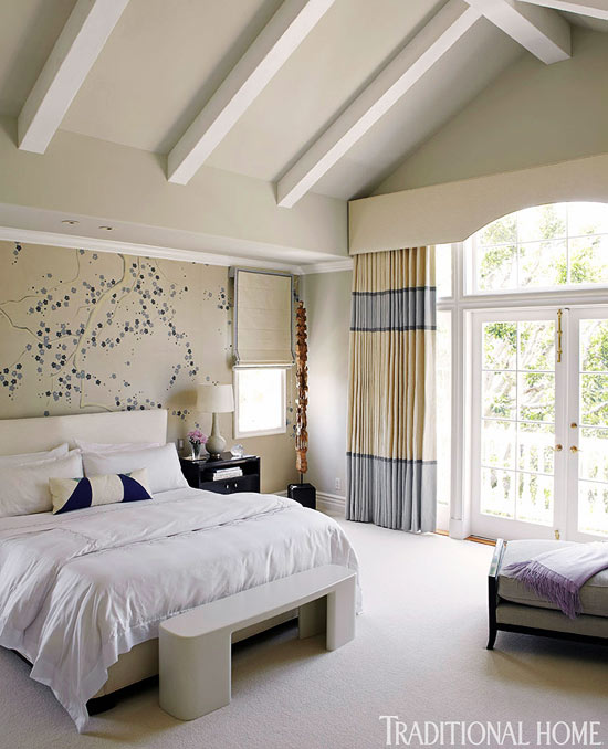 traditional blue bedroom ideas. Neutral Bedroom With Blue Accents Traditional Ideas