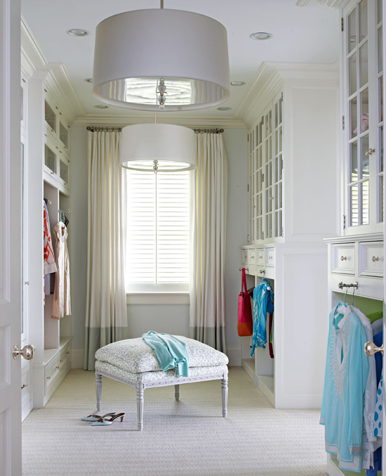 beautifully organized closets and dressing rooms | traditional home