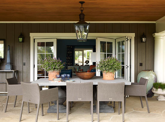 ENLARGE Loggia Dining Area Casual Rooms With Ease And Comfort Traditional Home
