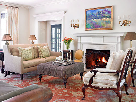 Elegant Living Rooms in Neutral ColorsTraditional Home