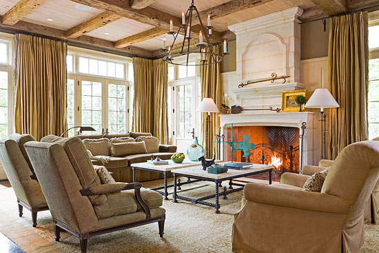 Living Room With Rustic Palette