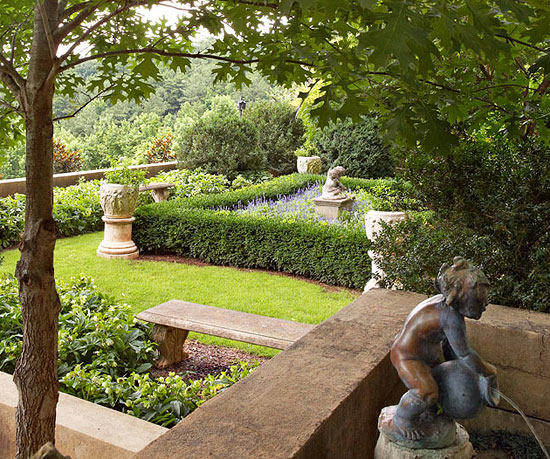 French Garden In A Southern Setting Traditional Home Extraordinary Garden Design Birmingham Style
