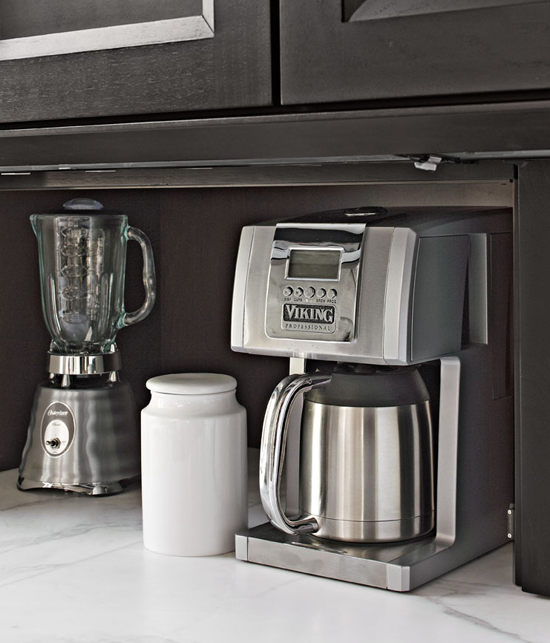 Great Kitchen Storage Ideas Traditional Home - Viking coffee maker