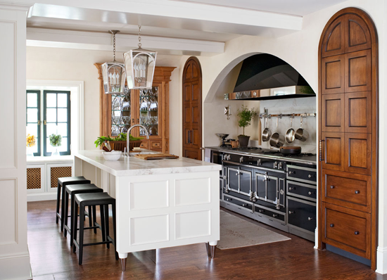 Great kitchen european style redesign traditional home - Piano de cuisine la cornue ...