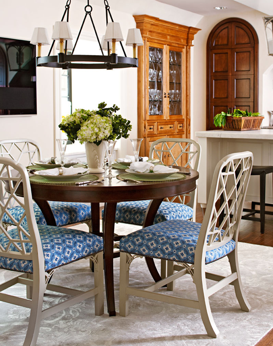 Nice Home Dining Rooms.  ENLARGE Decorating Details Beautiful Blue and White Accents Traditional