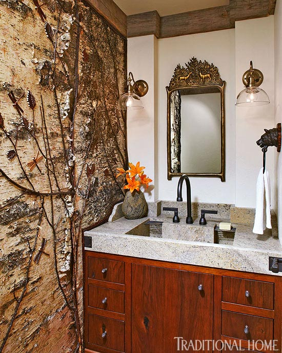 + ENLARGE. Rustic Powder Room ...