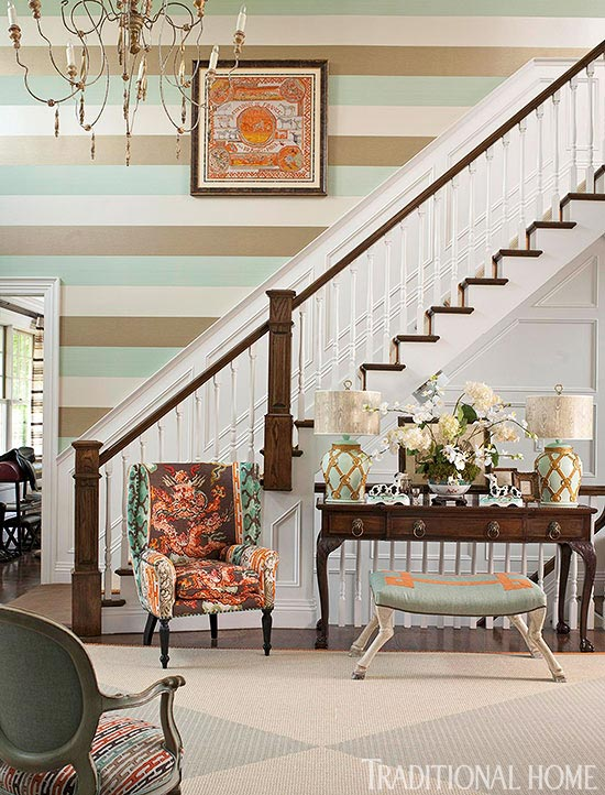 Dazzling hamptons showhouse traditional home for Wallpaper traditional home